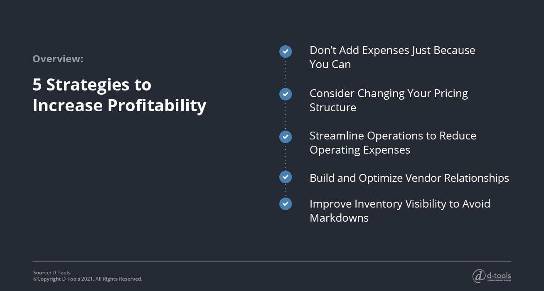 D-tools: increase profitability - 5 strategies to increase profitability