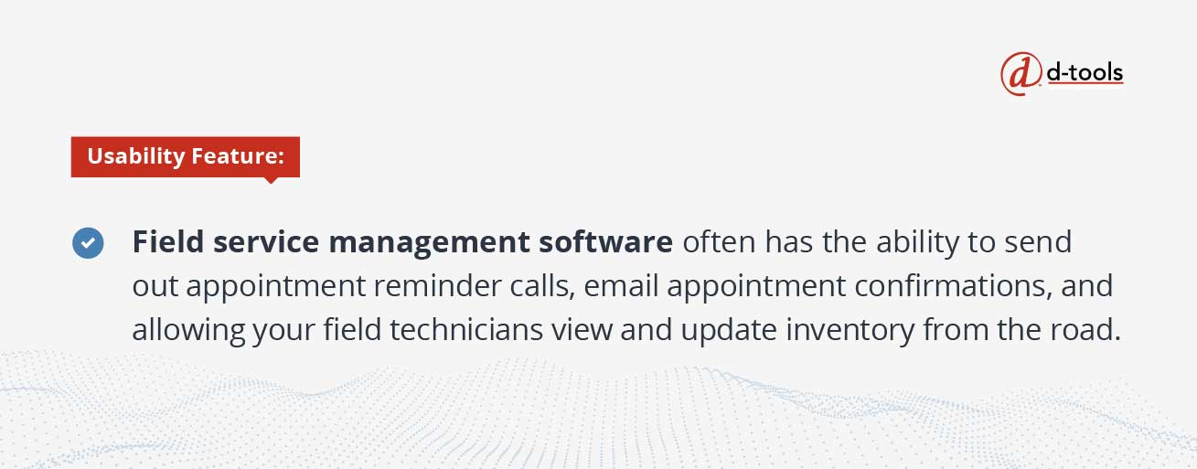 D-tools: increase profitability - field service management software