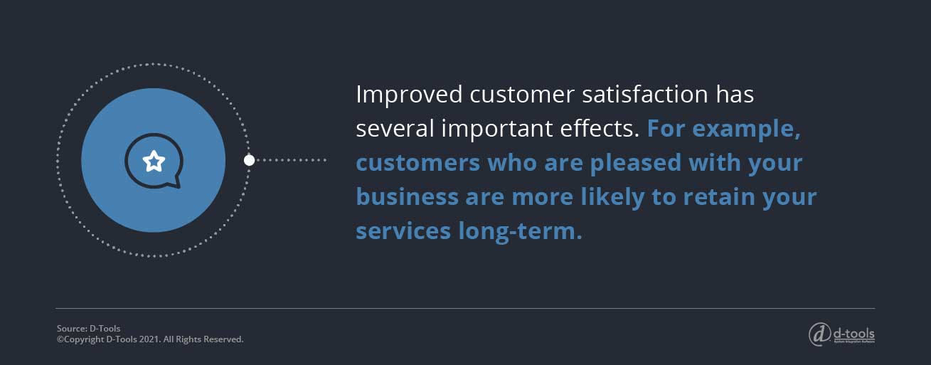 D-tools: field service software -customers who are pleased will retain your service long term