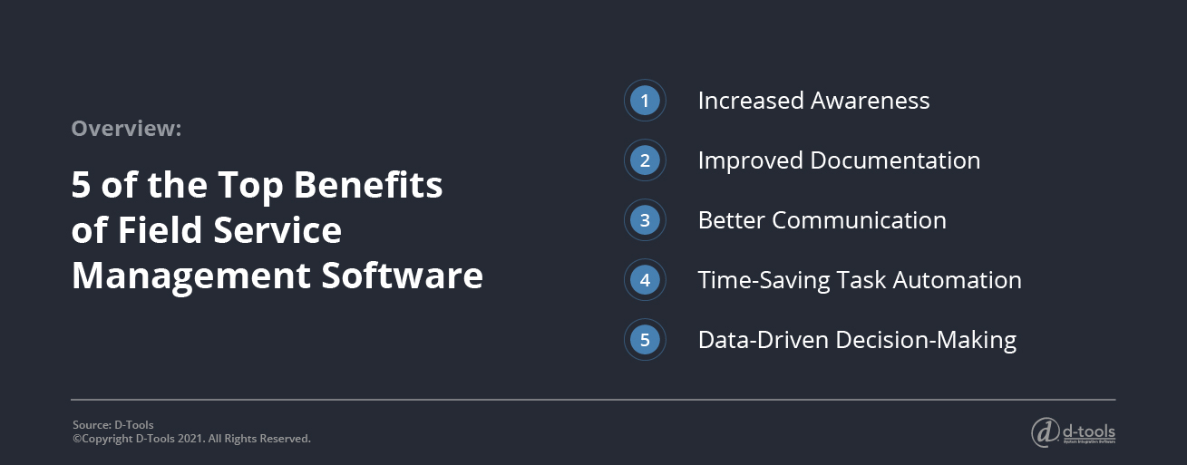 D-tools: service management software - Top Benefits of Field Service
