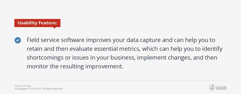 D-tools: service management software - data capture