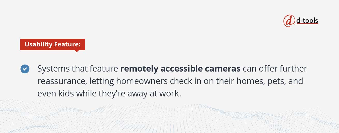 D-tools: Selling Home Automation Systems - remotely accessible cameras