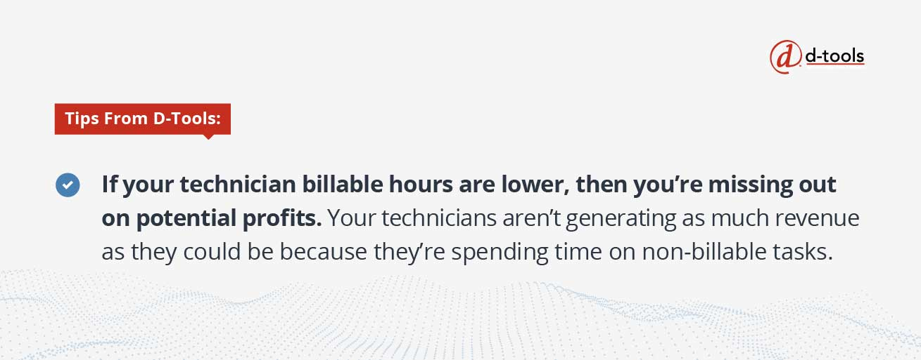 D-Tools: field service KPIs - billable hours