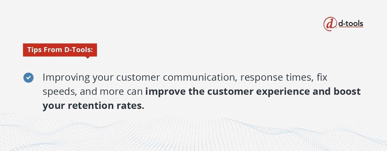D-Tools: field service KPIs - improve customer experience