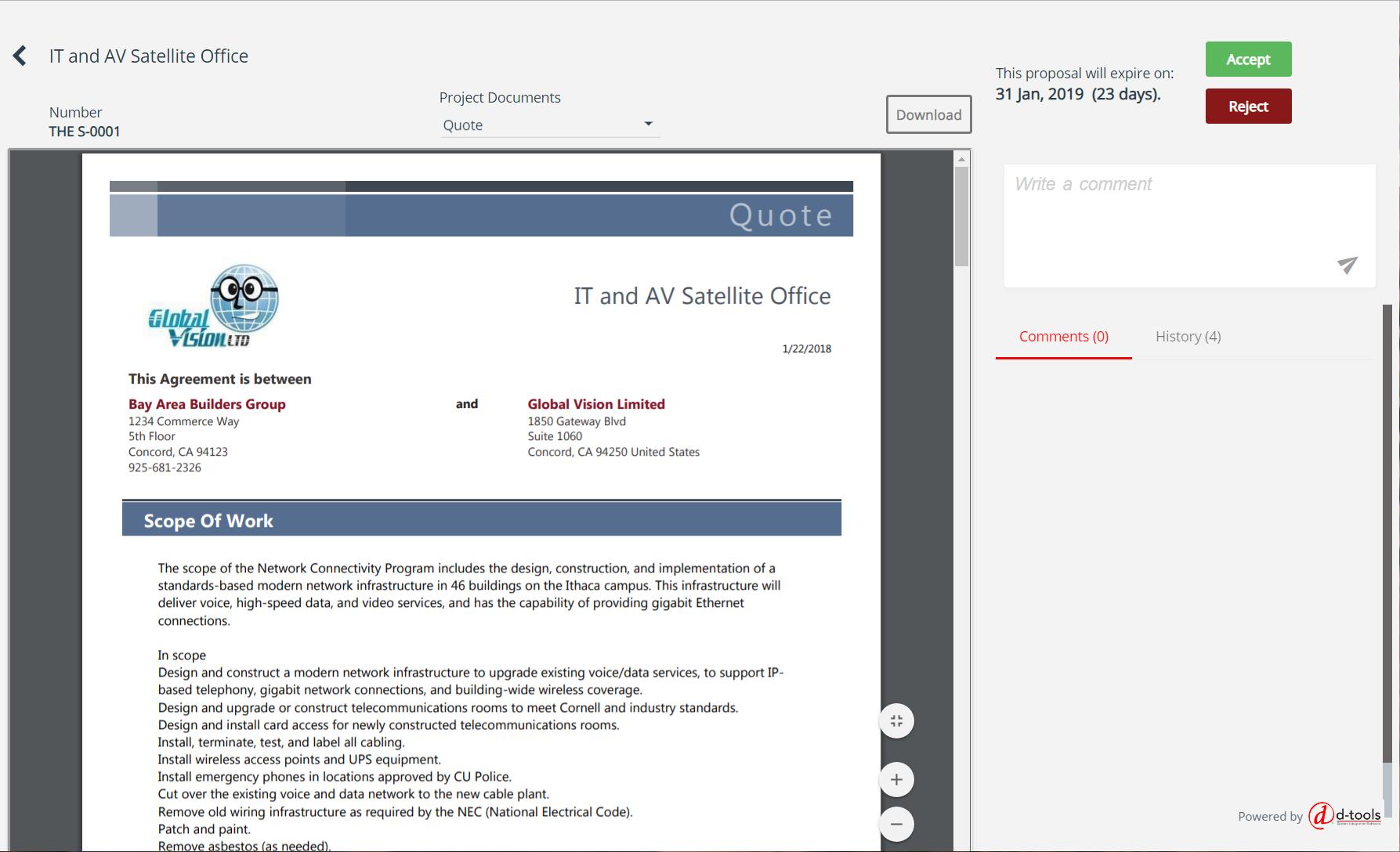 D-Tools Customer Portal