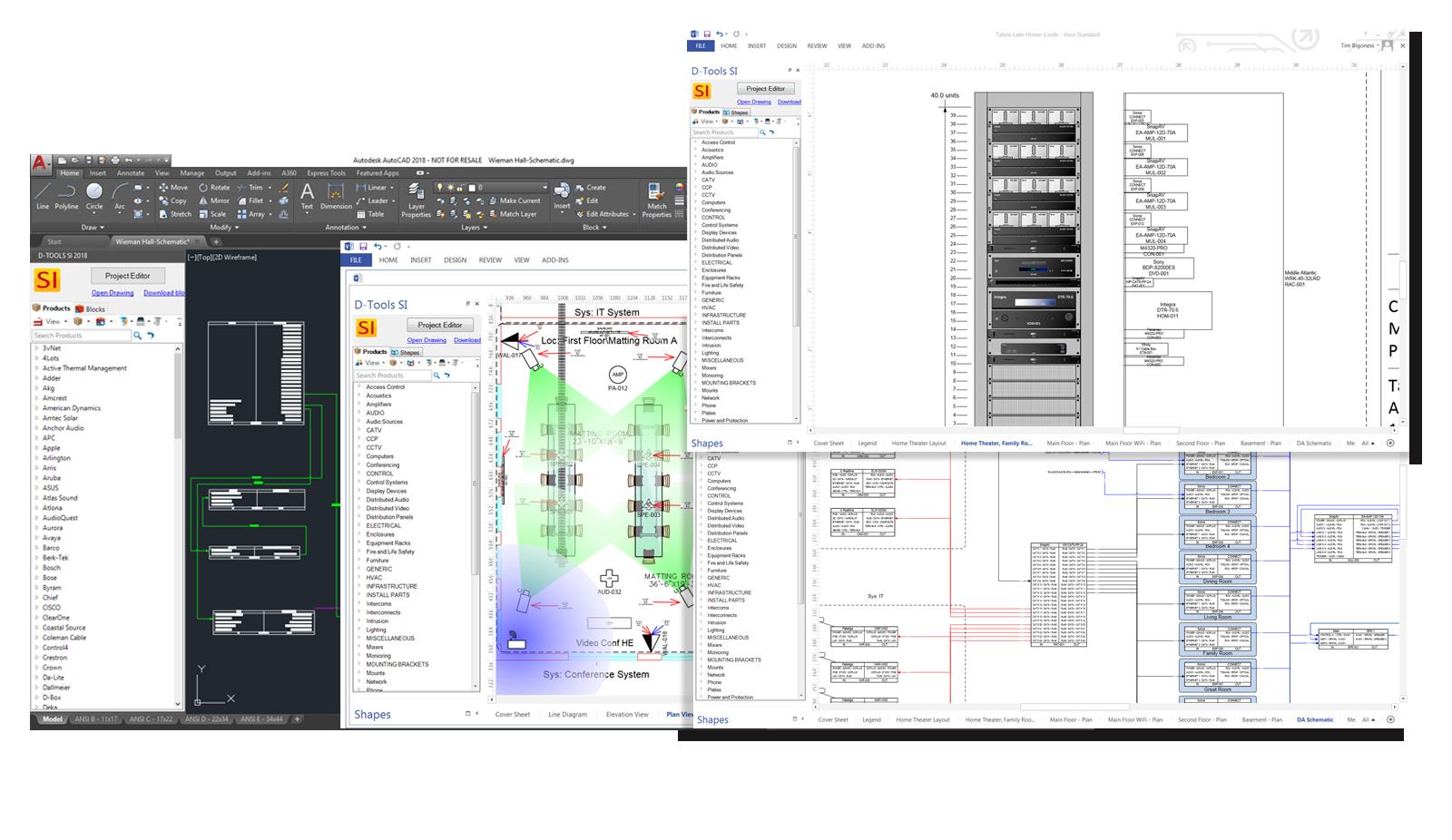 System Integrator Visio & AutoCAD Integration
